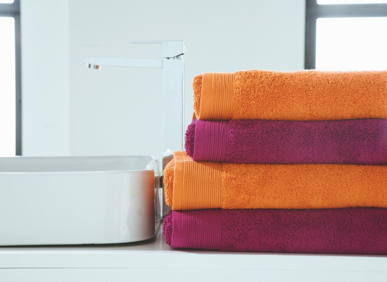 ręcznik blanc des vosges uni pomarańczowy ręcznik sklep internetowy podpierzyna